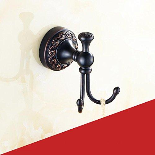 Accessoires de salle de bain noir crochet cuivre matériel de luxe rétro Rollsnownow