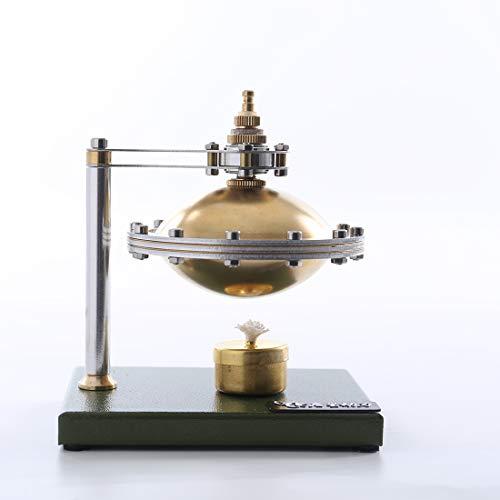 Vengo DIY Dampfmaschine Bausatz, Selbstmontierendes UFO-Spin-Suspension-Dampfmaschinenmodell Spielzeug mit Kupferkessel und Alkohollampe