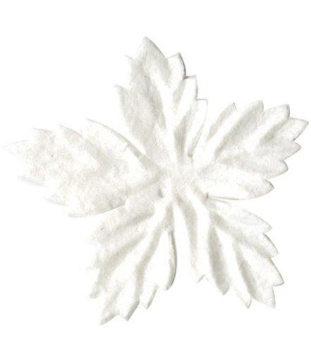 Bazzill Paper Flowers - Mini Poinsettia White 10/Pkg