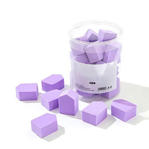 LEZDPP Chambre Éponge pentagonale Petite Jelly Beauté Egg Coussin Fond de Teint Liquide Humide et tampons de Coton Sec 20 Pièces (Color : B)