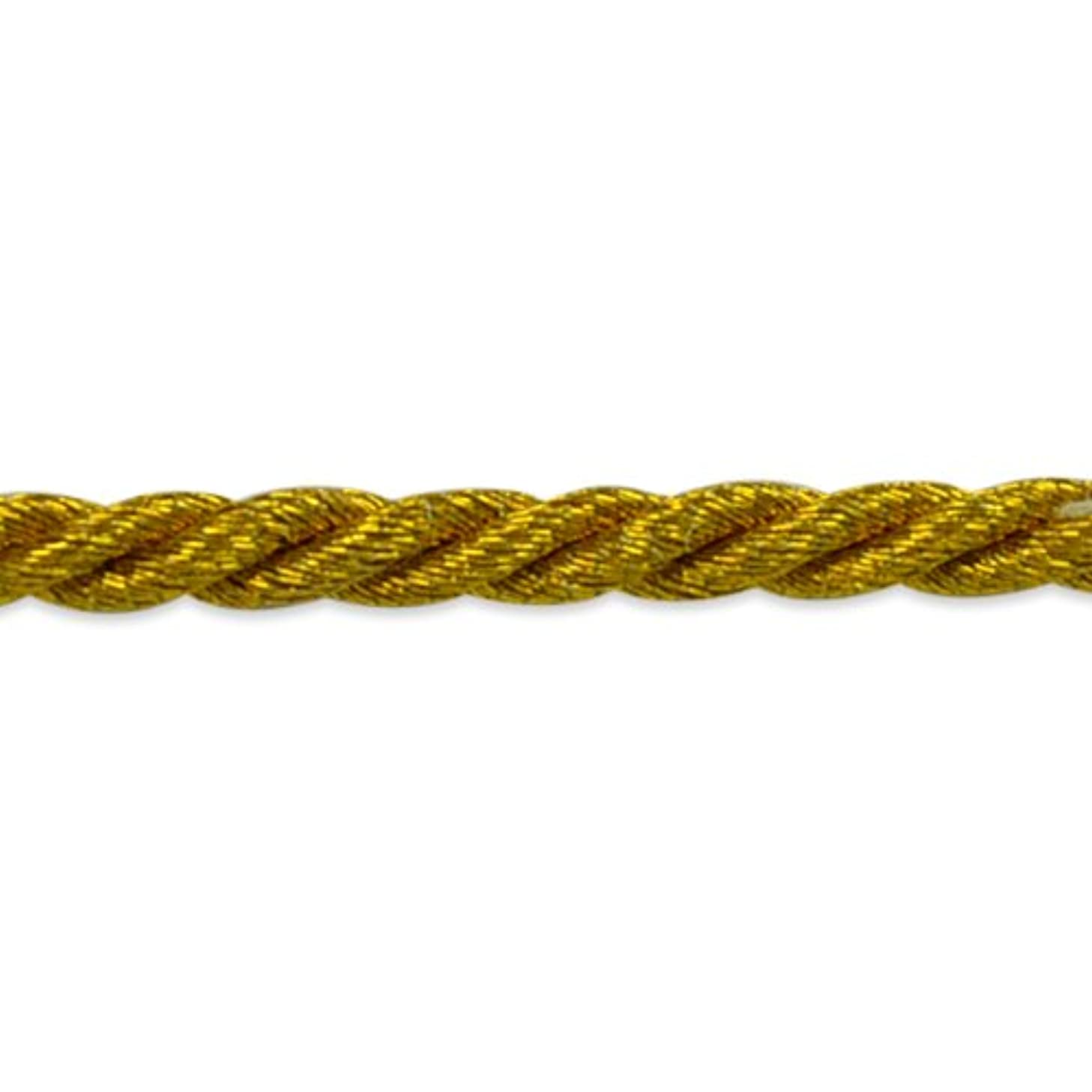 Expo International 20-Yard Phoenix Twisted Cord Trim Embellishment, 1/8-Inch, Antique Gold