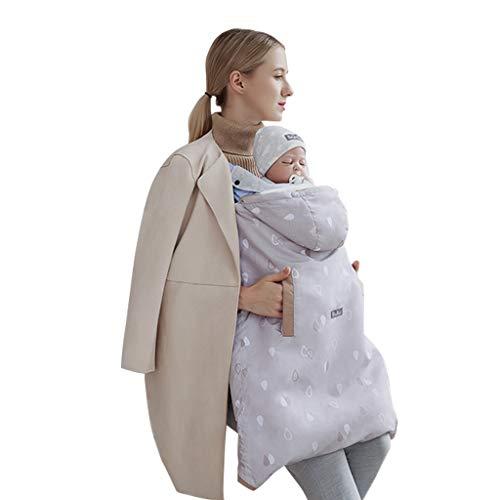 Wintercover und Regenschutz, Babytragen mit Fleece-Innenfutter wasserdichte Hülle, Khaki