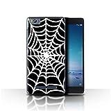 Phone Case for Xiaomi Mi 4C Black Fashion Spider Web