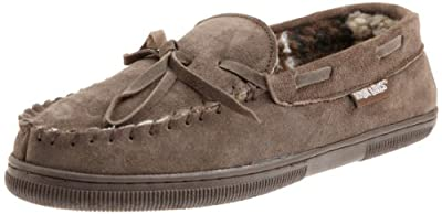 MUK LUKS Men's Paul Slipper, Chocolate, 10