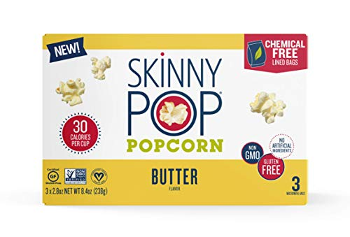 Fantastic Prices! SkinnyPop Microwave Butter Popcorn Bags, Healthy Snacks, (3 Count of 2.8 oz Bags) ...