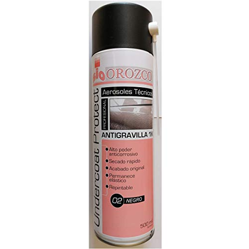 Pintura Antigravilla Protectora Negro Spray 500 ml.