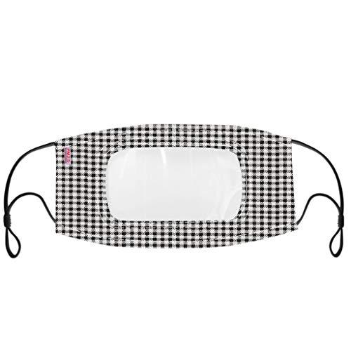 eiuEQIU Damen/Herren Care Mundschutz | Gesichtsvisier aus Kunststoff | Schutzvisier in Transparent | Universal Gesichtsschutz | Visier zum Schutz vor Flüssigkeiten | Face Shield für Mund Nase