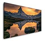 Paul Sinus Art Sonnenuntergang über dem Matterhorn 120x