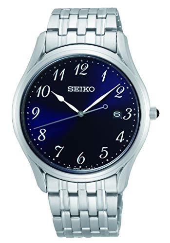 Seiko Quarz Herren-Uhr Edelstahl mit Metallband SUR301P1