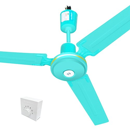 YULAN Elektrische ventilator, plafondventilator, 1400 mm, voor thuis, hangende ventilator, grote plafondventilator, grote woonkamer, ophangen van restaurant, elektrische ventilator