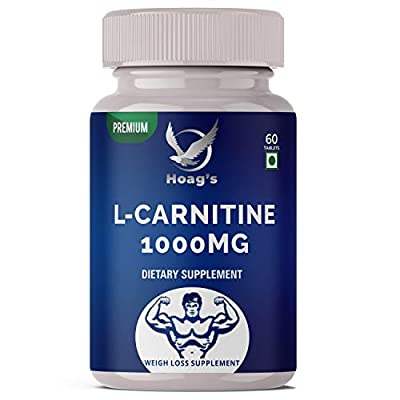 Hoag's L-Carnitine 1000 mg, Purest Form, Amino Acid, Fitness Support Pre & Post Workout Supplement - 60 Veg Tablets