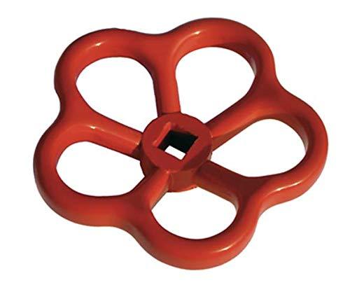 Handrad Ventil Ventilrad Vierkant Rot Alu 11mm für Verteiler Storz Standrohr Feuerwehr von MBS-FIRE