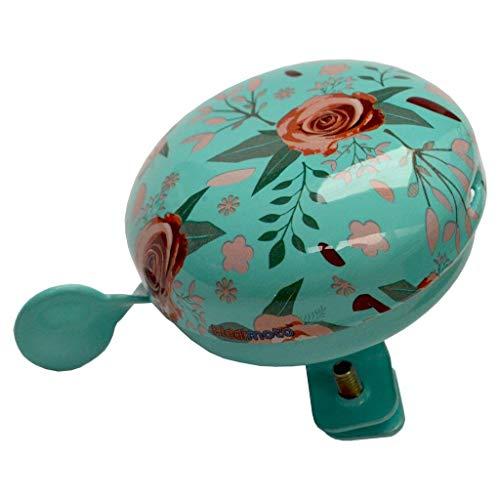 KIDDIMOTO Glocke Design Klingel/Fahrradklingel zubehör für Fahrrad, Roller, Scooter, Kinderroller Kinderfahrrad & Laufrad - Floral/Blumen - Klein (58mm)