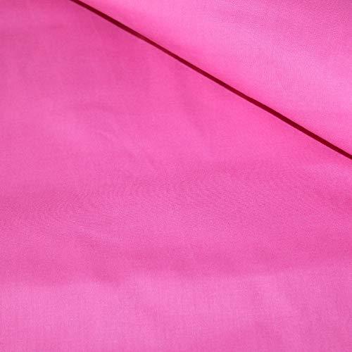 100% Baumwolle Uni Einfarbig Baumwollstoff Kinderstoff Meterware Handwerken Nähen Stoff (Pink, 100x160cm (9,99/m))