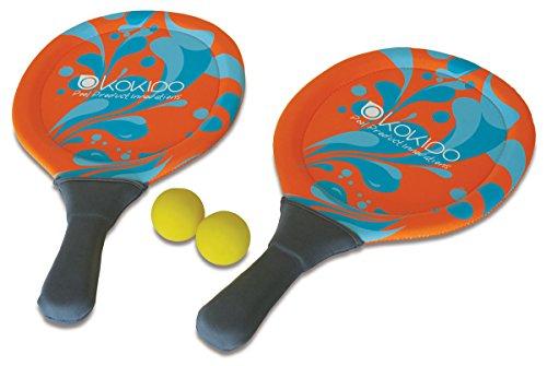 Kokido - Set de 2 palas y 2 pelotas de neopreno para jugar en la piscina o la playa (K566CBX)
