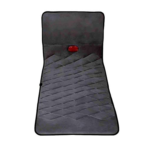 XSSD002 Matras, massage, lichaamsmassage, infrarood verwarming nek airbag taille, rug, billen, multifunctionele positie thuis, opvouwbaar, massage kussen (grootte: 178 * 60cm), zwart, A