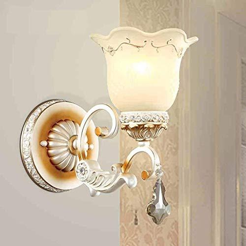 Chenbz Lámpara de pared de cristal de estilo europeo pared simple de lujo, dormitorio lámpara de cabecera de estar Sala de Estudio de la lámpara del pasillo de entrada del pasillo de la pared