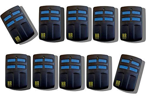 Pack 10 unidades mando de garaje universal HR MATIC MULTI 2