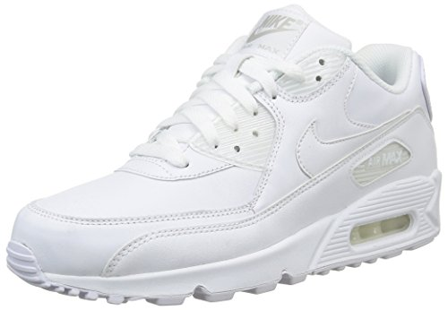 NIKE Air Max 90 Mens Leather Running Shoes White Casual Classic Retro Throwback Sneakers