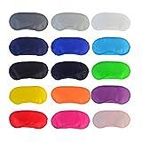 Uooker 15-teilige bunte Augenmaske, Schlafmaske mit Nasenpolster und elastischen Riemen, bequem, leicht, Augenbinde, Augenschutz für Kinder, Damen, Herren, für Reisen, Schlafen oder...