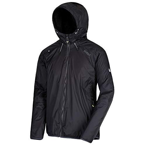 Regatta Veste imperméable, Respirante et Isolante TARREN avec Capuche réglable Waterproof Insulated Jacket Homme, Black, FR (Taille Fabricant : XL)