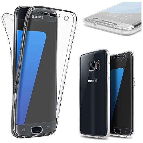 ebestStar - Cover Compatibile con Samsung S7 Galaxy SM-G930F, G930 Custodia Protezione Integrale Silicone Gel TPU Morbida e Sottile, Trasparente [Apparecchio: 142.4 x 69.6 x 7.9mm, 5.1'']