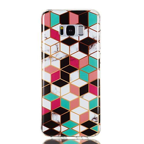 XINYIYI La Funda se Aplica a Samsung Galaxy S8 Plus, Ultra-Delgado Silicona Colorida Creativa TPU Bling Juego de mármol a Prueba de Golpes Cubierta de cáscara Suave -#2