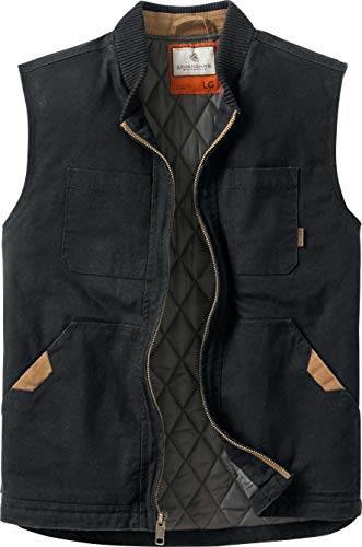 Legendary Whitetails Men's Canvas Cross Trail Vest Black Large Tall