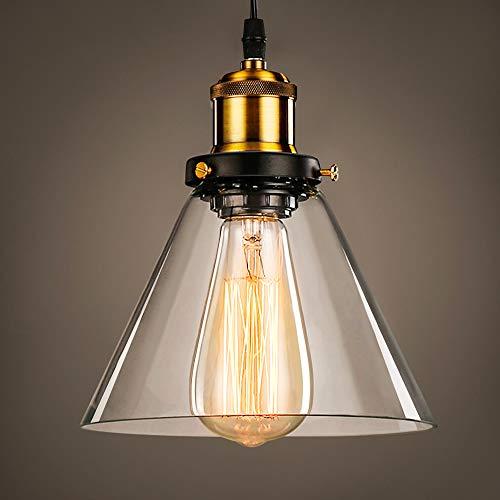 Lightess Lámpara Colgante Vintage Lámpara de Techo Lámpara de Pantalla Luz de Metal Lámpara de Comedor Iluminación Interior Estilo Rústico Casquillo E27 No Incluye Bombilla para Dormitorio, Sala