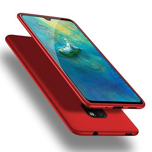 X-level Huawei Mate 20 Hülle, [Guardian Serie] Soft Flex TPU Hülle Superdünn Handyhülle Silikon Bumper Cover Schutz Tasche Schale Schutzhülle für Huawei Mate 20 - Rot