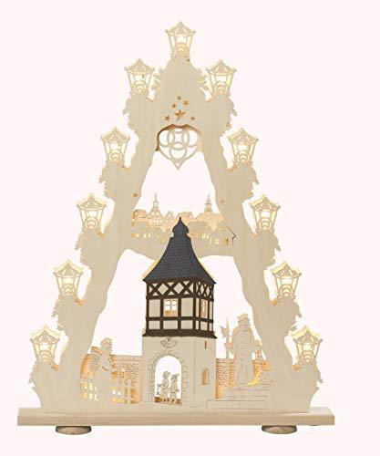 Saico Romantic Castle 3D Pyramid, 52 x 6 x 67 cm, Beige