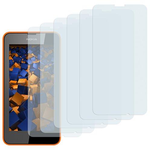 mumbi Schutzfolie kompatibel mit Nokia Lumia 630/635 Folie klar, Bildschirmschutzfolie (6X)