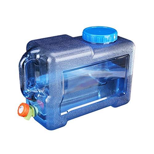 ZSYGFS Bidón De Agua 8L Bidón De Agua Contenedor De Agua Portátil Emergencia Tanque De Almacenamiento De Agua para Uso Domestico Cubo Portátil Seguro Material del PE con El Grifo