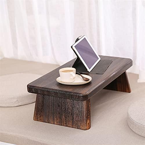 SHUJINGNCE Muebles Antiguos asiáticos del Piso japonés de la Mesa de té del Piso rectángulo Centro de Madera Centro portátil café Tatami Baja Mesa de Madera (Color : Small)