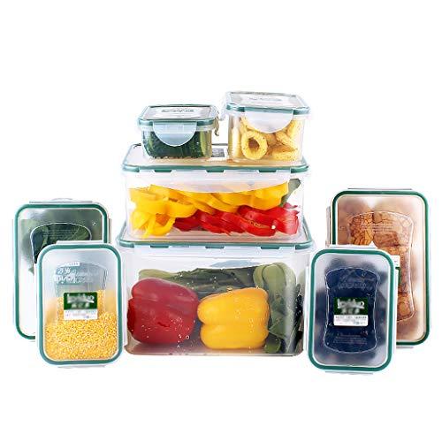 Voedsel opslag bakjes met deksel, BPA-vrij voedsel Containers Sets met deksel Meal Prep Container, Luchtdichte Containers Levensmiddelen voor Kitchen