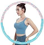 QueenDer Hula Hoop - Aro de gimnasia para adultos (espuma, 6-8 nudos, desmontable, para fitness/deporte (010)