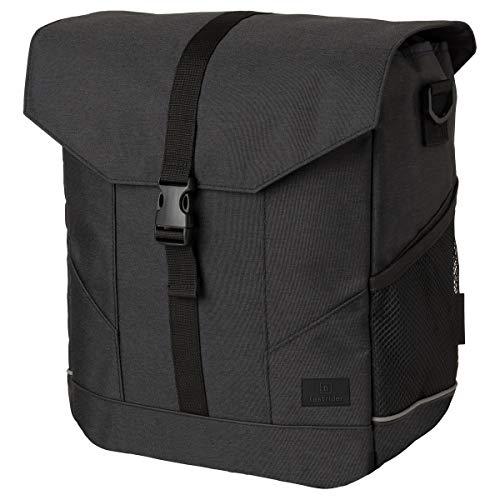 FastRider Pendler Einzel Pannier, Radtaschen, Fahrradtasche für gepacktrager Tasche | Grau | 12 Liter