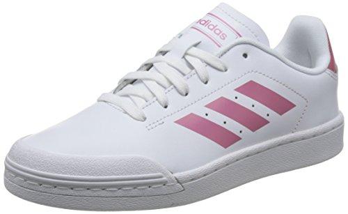 adidas Court 70s, Zapatillas de Tenis Mujer, Blanco (Ftwwht/Tramar/Clowhi Ftwwht/Tramar/Clowhi), 39 1/3 EU