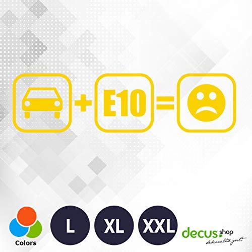 Decus Auto E10 Bad Smiley 1551 // sticker OEM JDM Style sticker XXL (ca. 60x14 cm) geel
