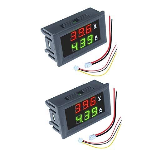 Aideepen 2 Pcs 0.28' LED Digital Voltmeter Ammeter Volt Amp 2 in 1 Tester...