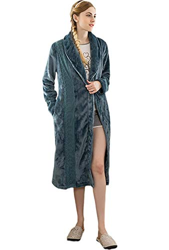 Sloth Pyjamas Womens,Ladies Plush Long Nightgown,Flanell Dicker Bademantel, warmes Nachthemd