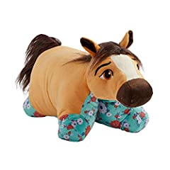 RIDE FREE: Gallop across the plains with this Spirit Pillow Pet! Fans of Spirit Riding Free will love playing with their favorite horse. You can be just like Lucky and her friends and save the day. COMFORTABLE COMPANION: Pillow Pets presents super so...