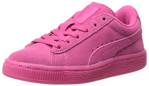 PUMA Suede Iced Fluo Kids Sneaker (Toddler/Little Kid/Big Kid) , Beetroot Purple/White, 10 M US Toddler