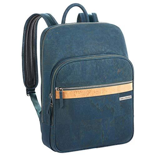 Clark & Mayfield Corbett Cork Lightweight Laptop Backpack 15 (Deep Sea Blue)