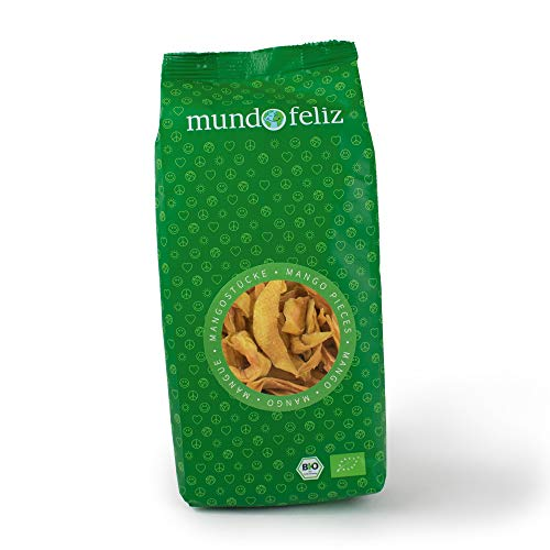 Mundo Feliz Getrocknete Mangostreifen aus Bio-Anbau, 3 x 200 g