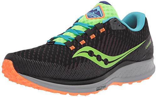 Saucony Men's Canyon TR Trail Running Shoe, Future Black, 10