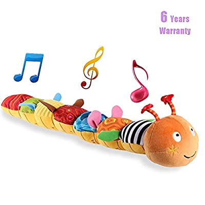 Musical Caterpillar Toy, LIGHTDESIRE [Newest]Rattle with Ring Bell for Preschool Baby by LIGHTDESIRE