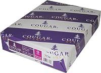 """Cougar不透明ホワイトスムース60# 8.5"""" x11"""" 500シート"""