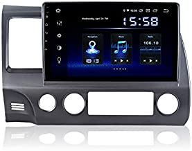 Dasaita 10 inch Screen Android 10.0 Car Stereo for Honda Civic 2006 to 2011 Radio Build in Carplay/Android Auto GPS Single Din Navigation 4G Ram 64G ROM DSP System 15Band EQ Multimedia