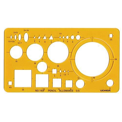 テンプレート No.140F 建築士・受験者用定規 012-0015